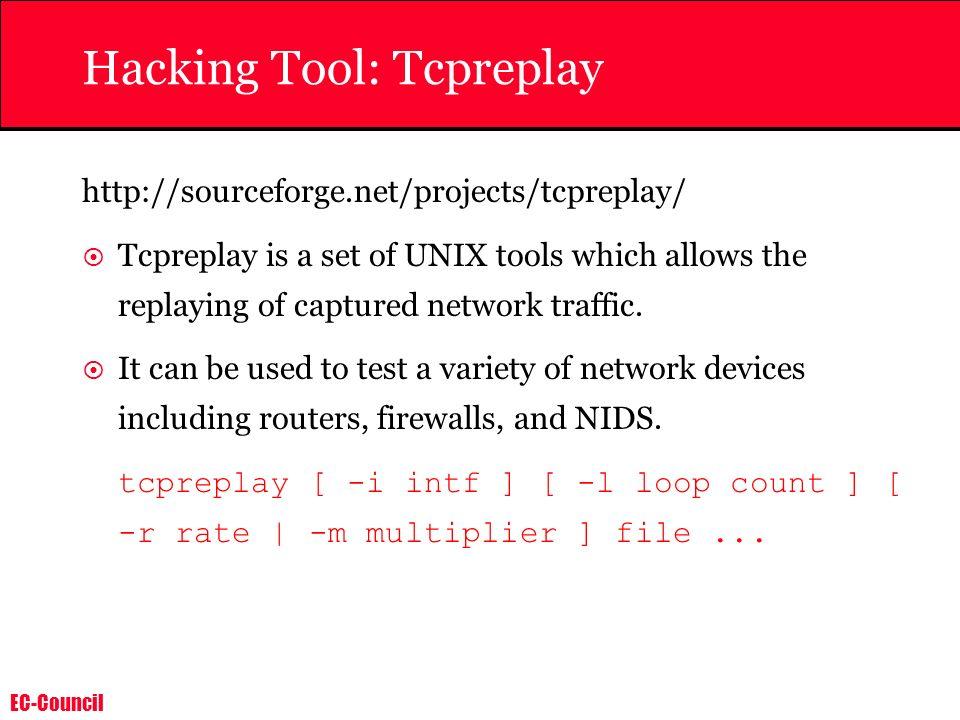 Hacking Tool: Tcpreplay