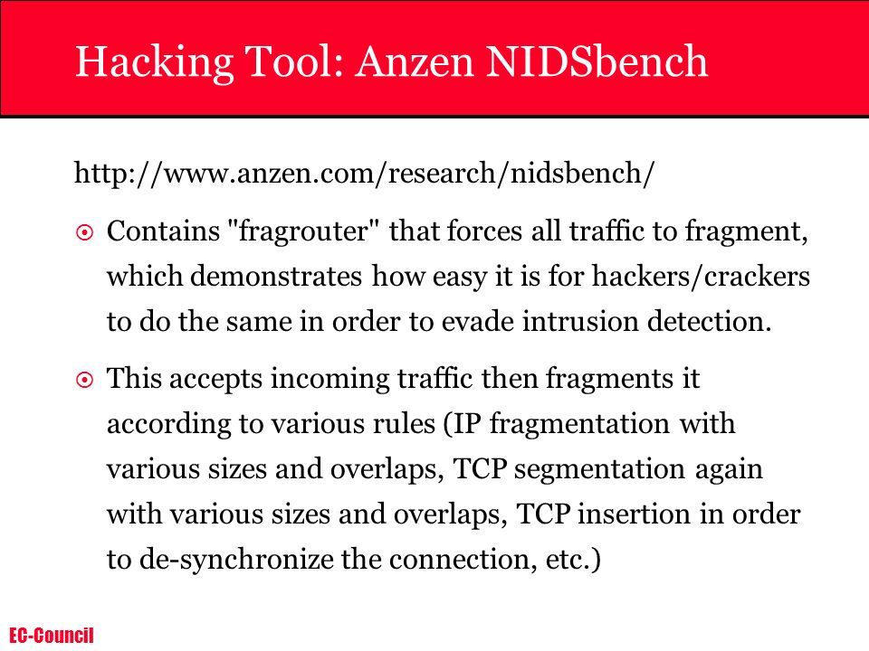 Hacking Tool: Anzen NIDSbench