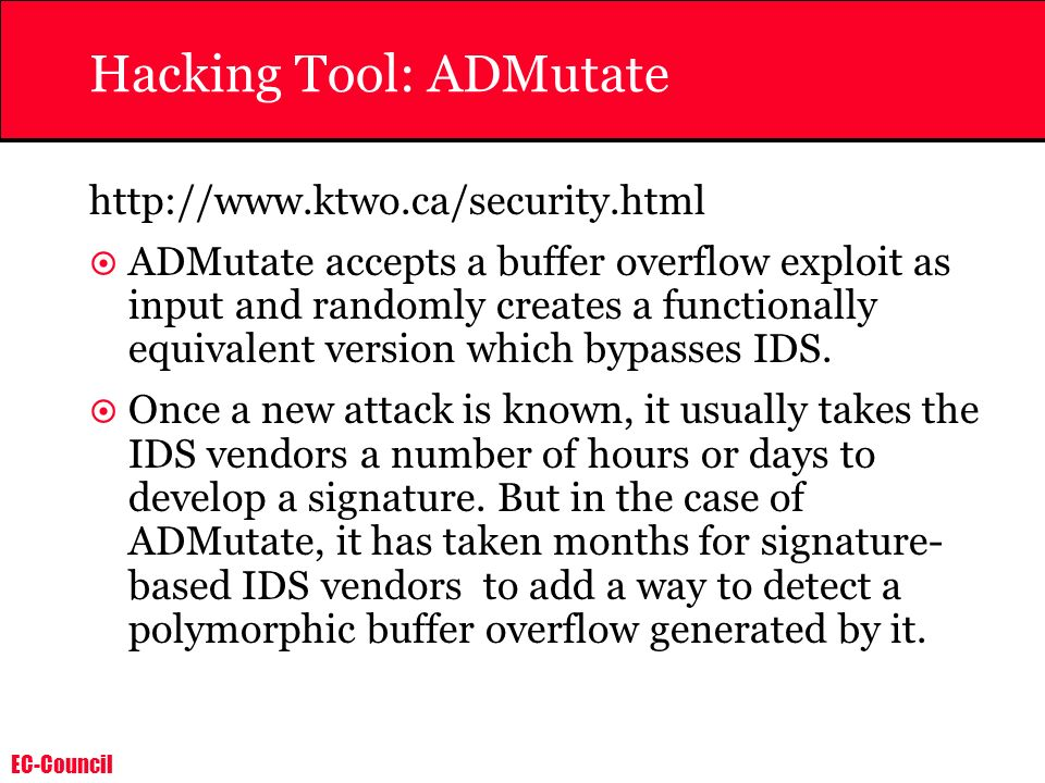 Hacking Tool: ADMutate