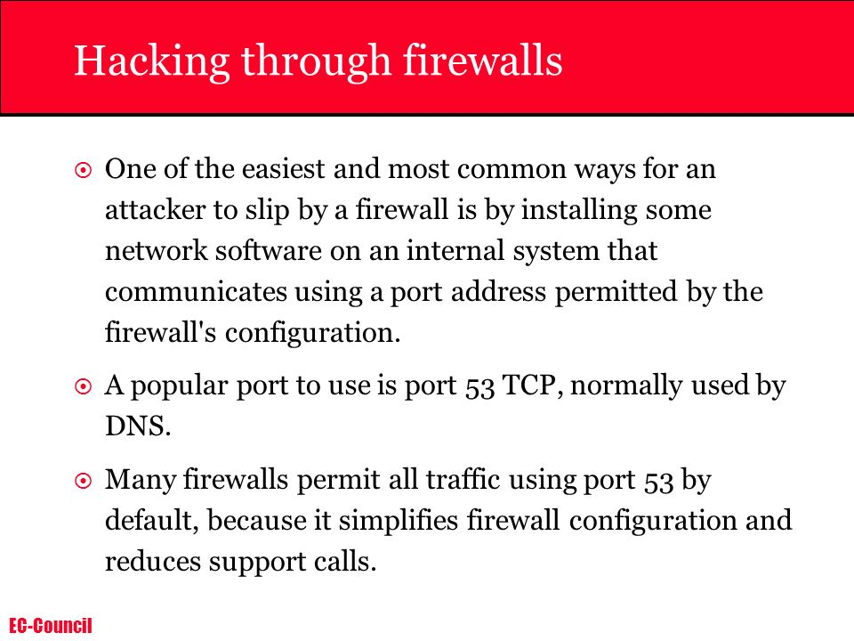Hacking through firewalls