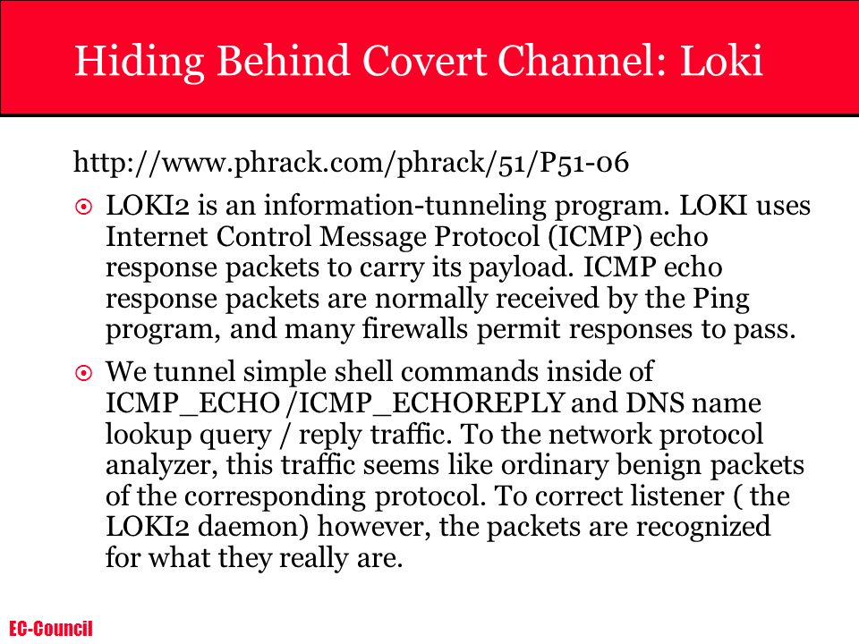 Hiding Behind Covert Channel: Loki