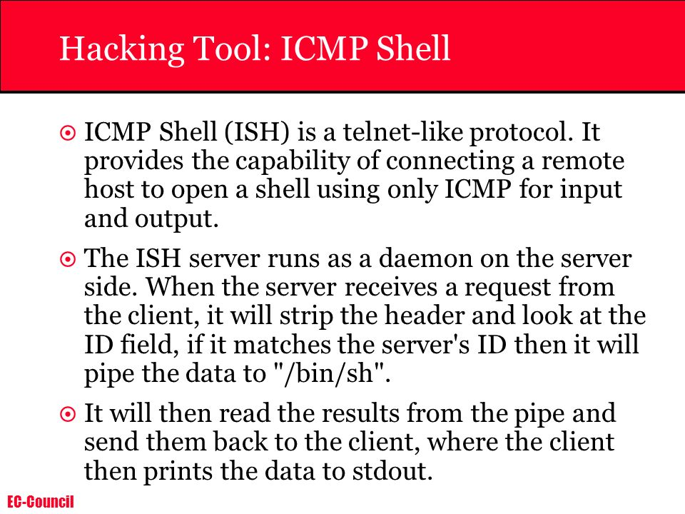 Hacking Tool: ICMP Shell