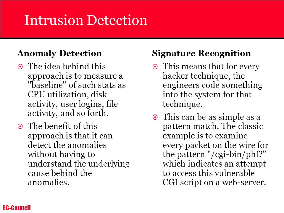 Intrusion Detection Anomaly Detection