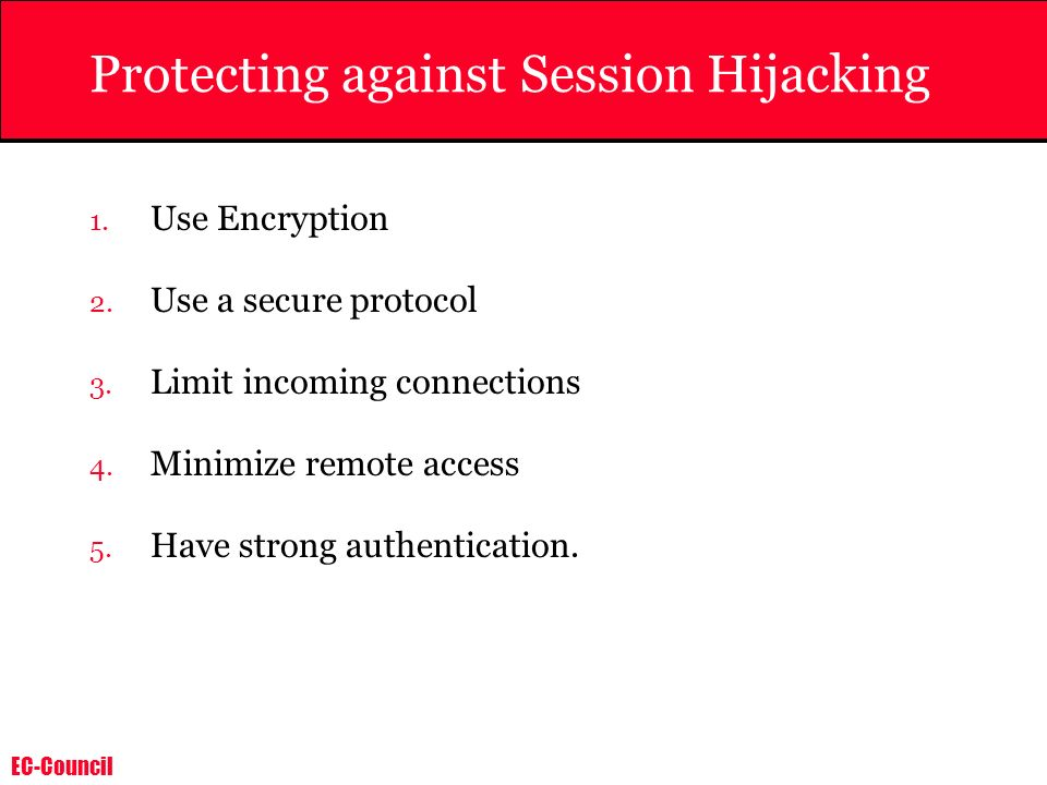 Protecting against Session Hijacking