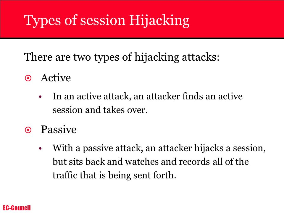 Types of session Hijacking
