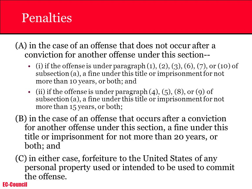 Penalties (A) in the case of an offense that does not occur after a conviction for another offense under this section--