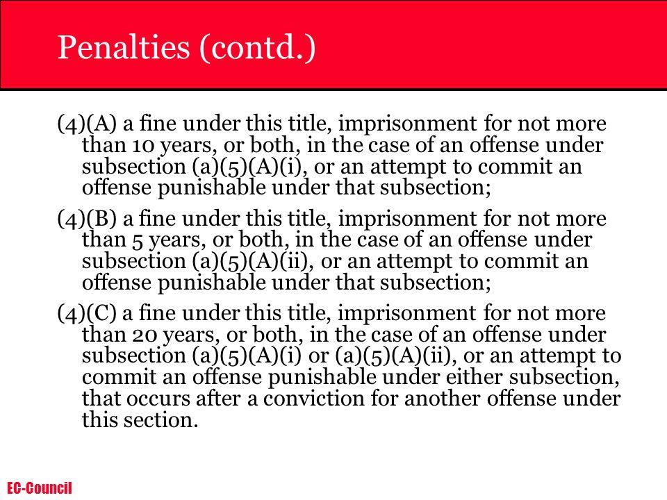 Penalties (contd.)