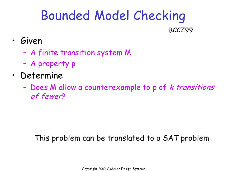 Bounded Model Checking