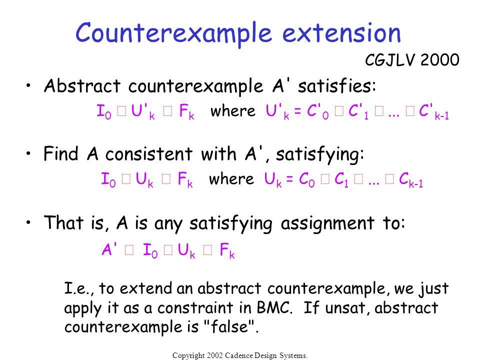 Counterexample extension