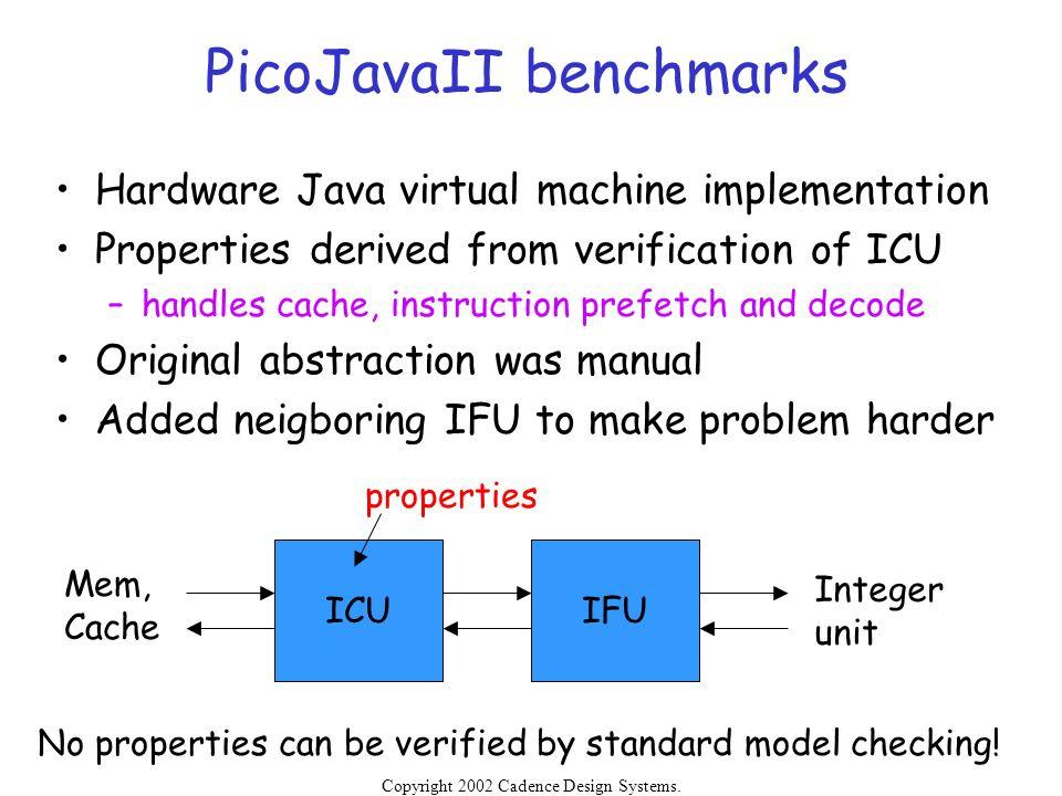 PicoJavaII benchmarks