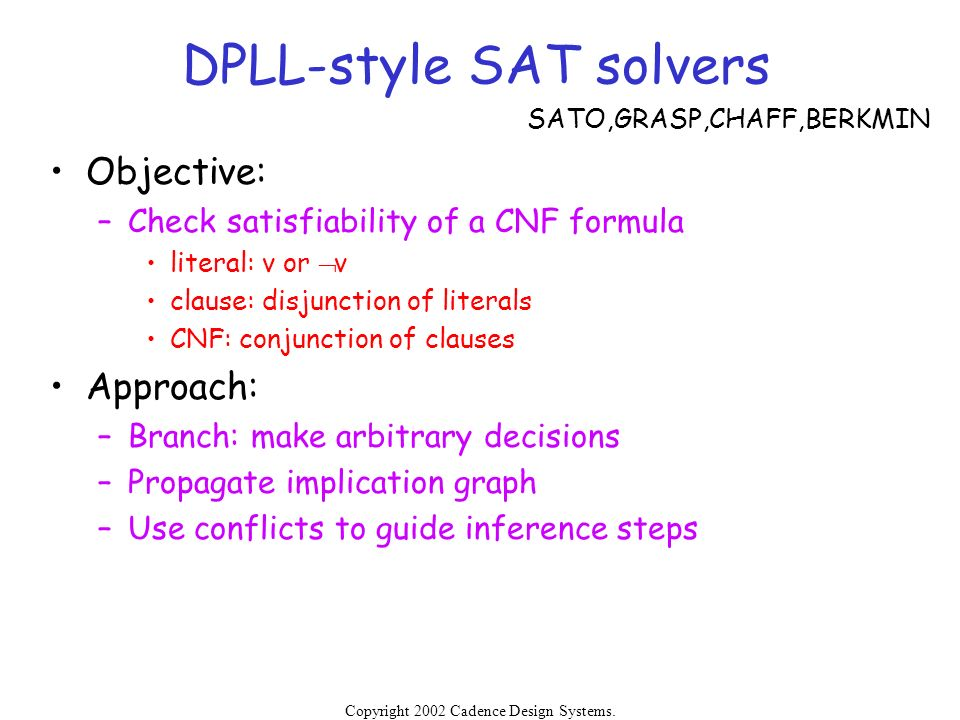 DPLL-style SAT solvers