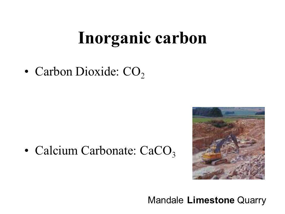 Inorganic carbon Carbon Dioxide: CO2 Calcium Carbonate: CaCO3