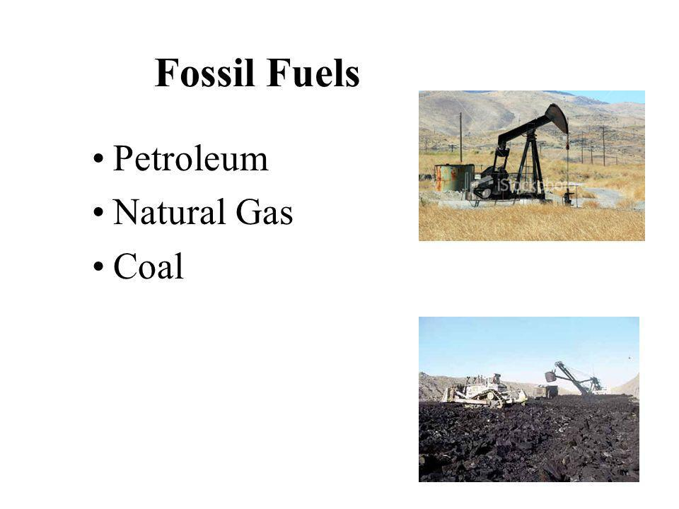 Fossil Fuels Petroleum Natural Gas Coal