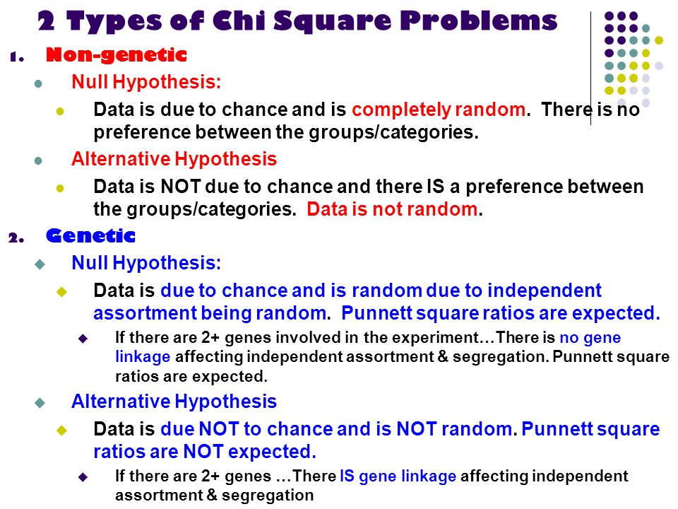 2 Types of Chi Square Problems