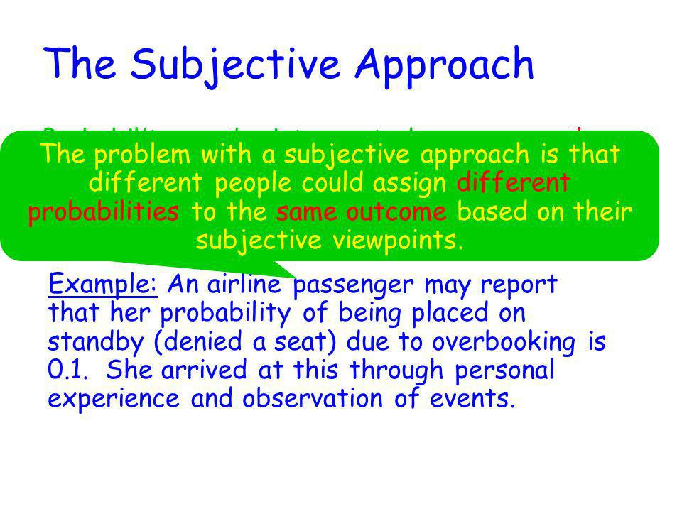 The Subjective Approach