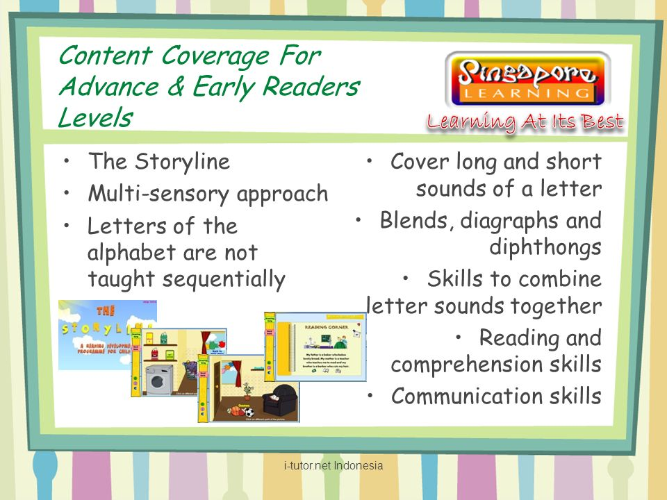 Content Coverage For Advance & Early Readers Levels