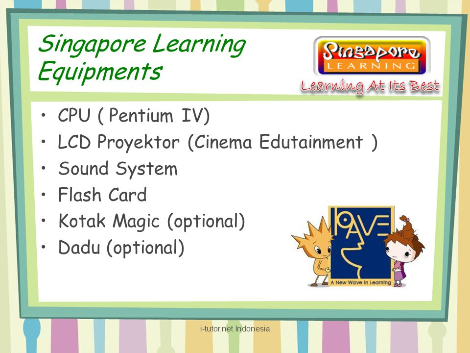 Singapore Learning Equipments