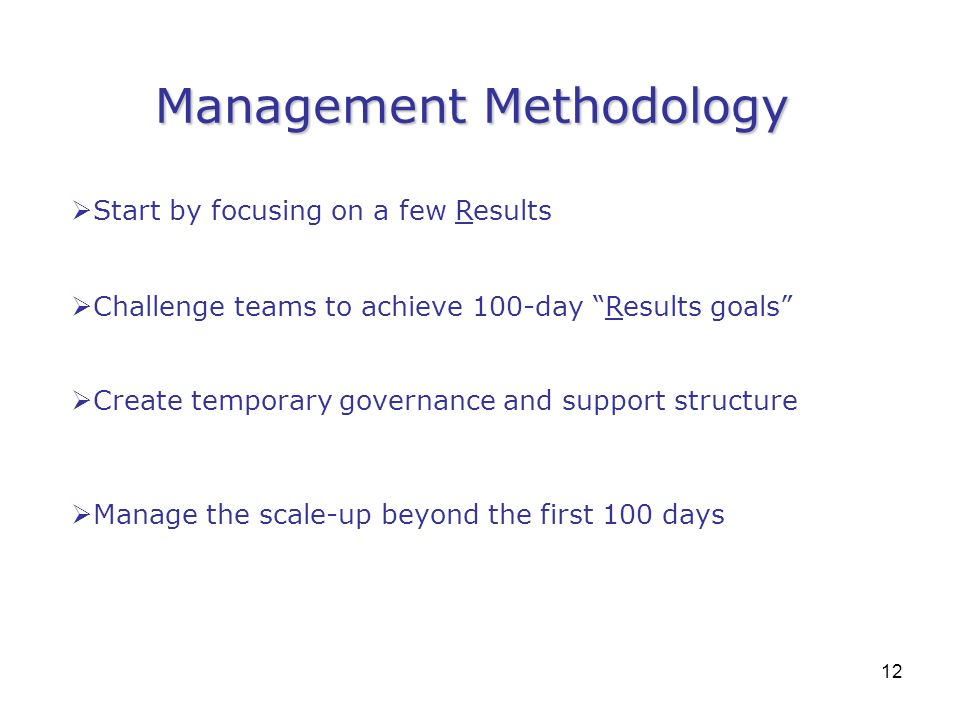 Management Methodology