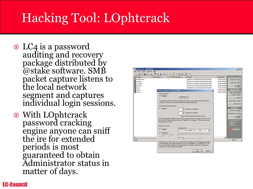Hacking Tool: LOphtcrack