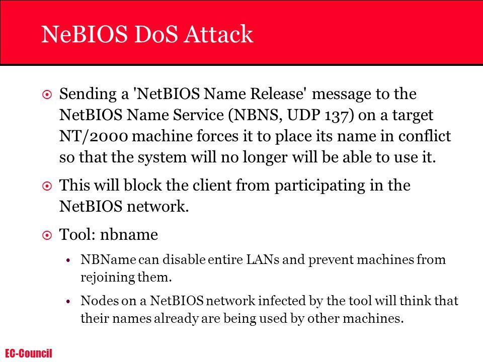 NeBIOS DoS Attack
