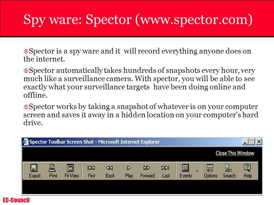 Spy ware: Spector (www.spector.com)