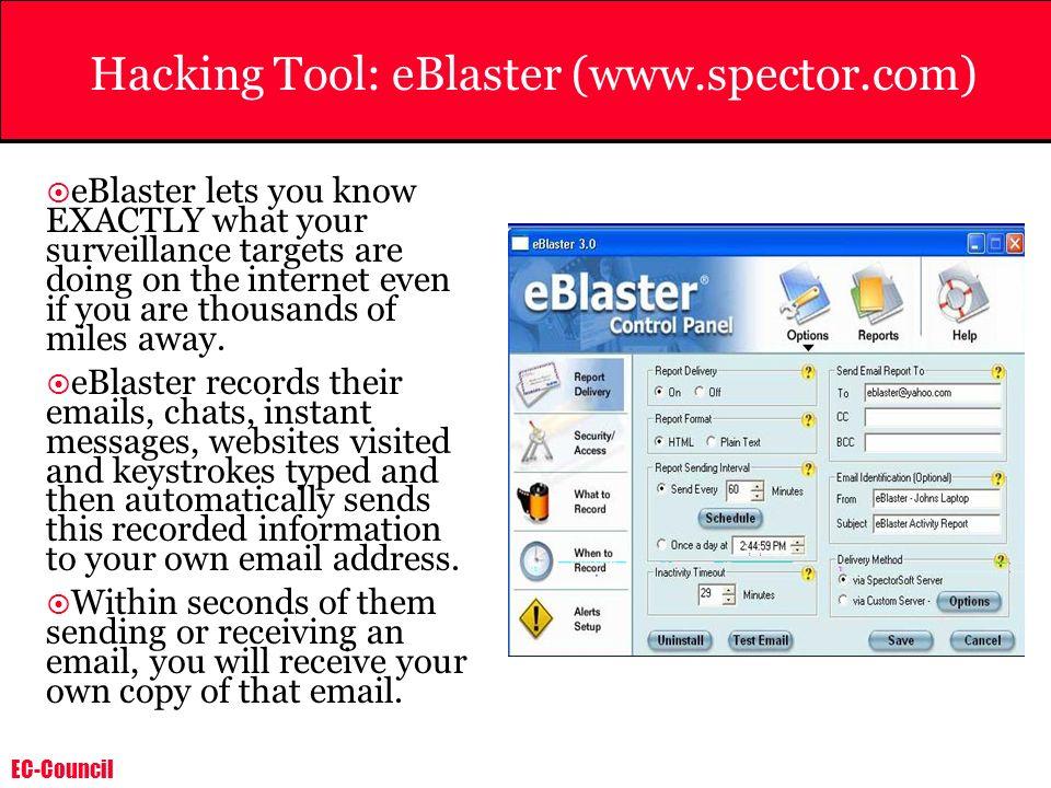 Hacking Tool: eBlaster (www.spector.com)