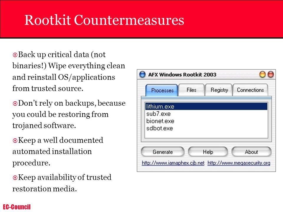 Rootkit Countermeasures