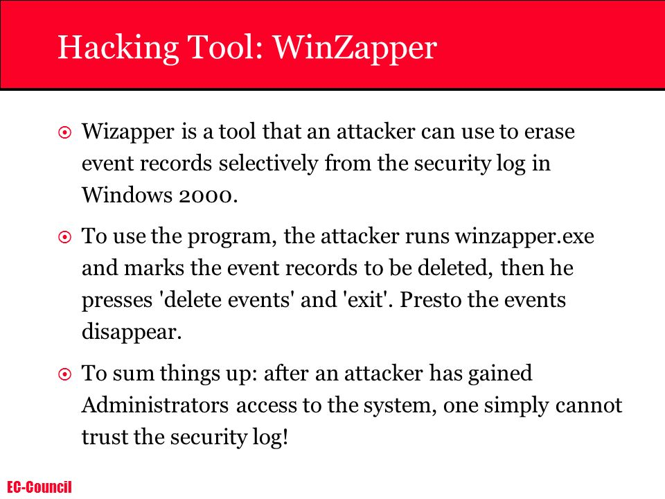 Hacking Tool: WinZapper