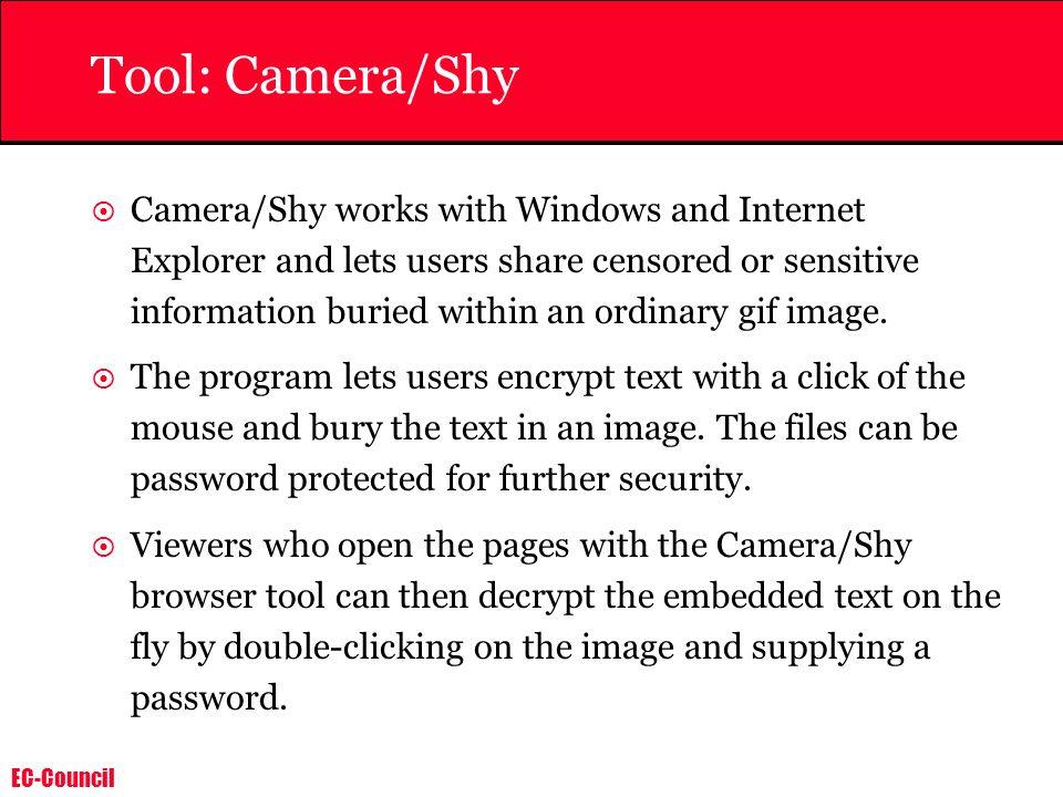 Tool: Camera/Shy