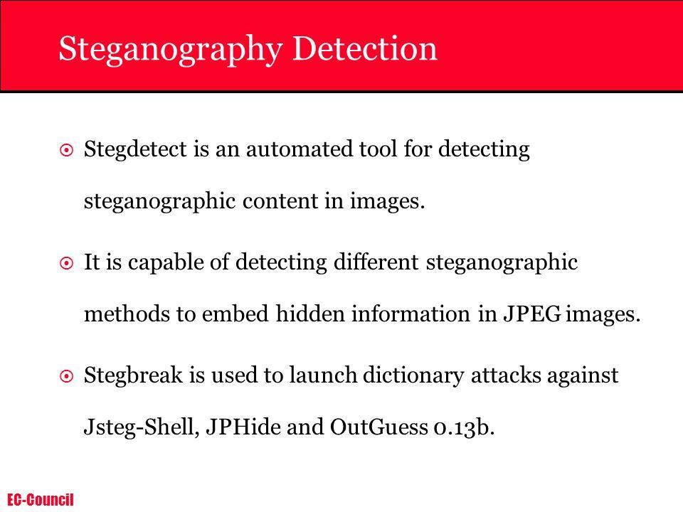 Steganography Detection