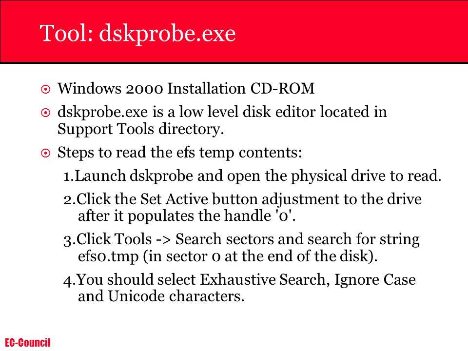 Tool: dskprobe.exe Windows 2000 Installation CD-ROM