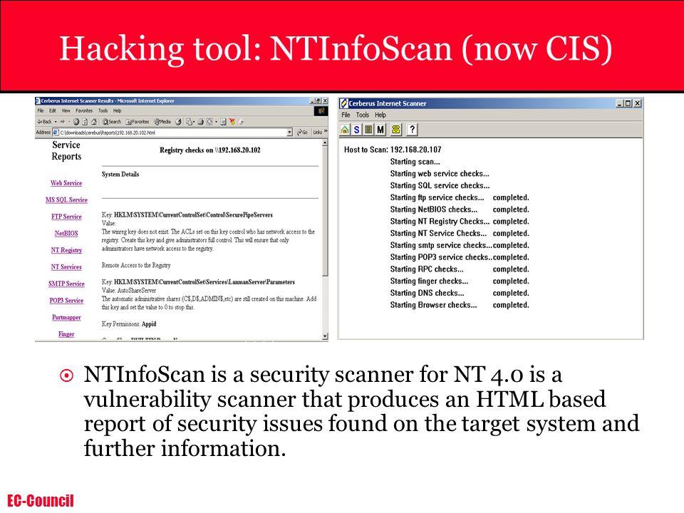 Hacking tool: NTInfoScan (now CIS)