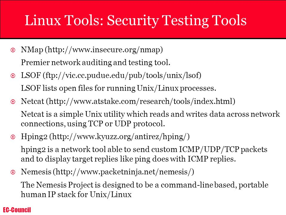 Linux Tools: Security Testing Tools