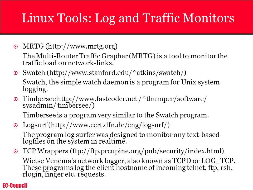 Linux Tools: Log and Traffic Monitors