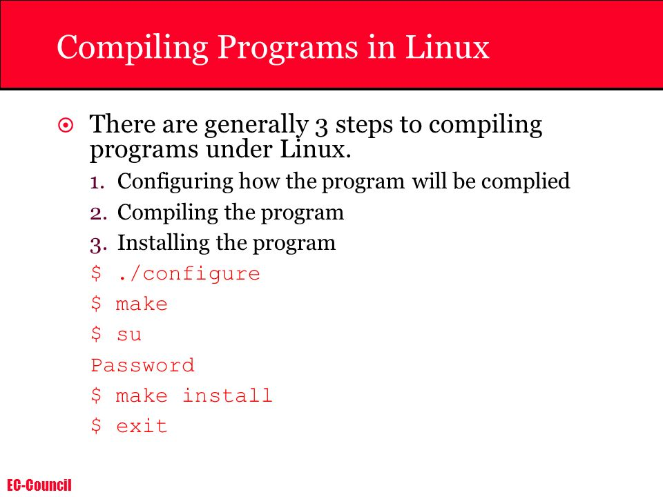 Compiling Programs in Linux