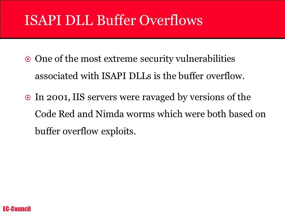 ISAPI DLL Buffer Overflows