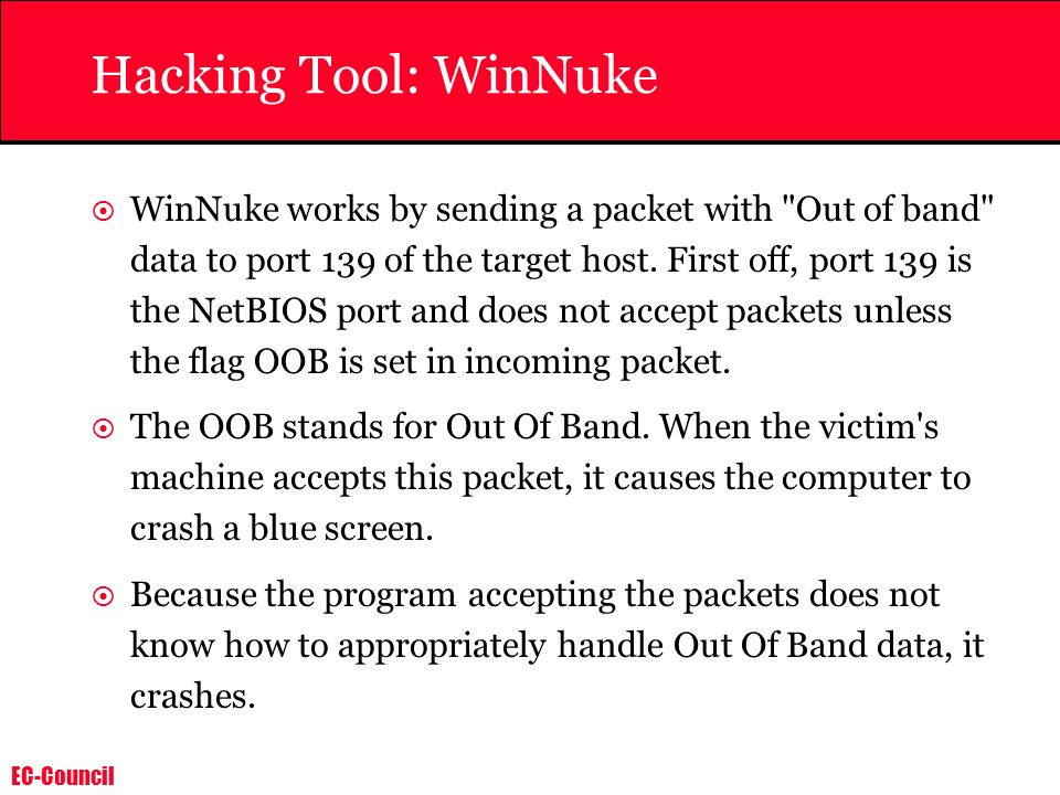 Hacking Tool: WinNuke