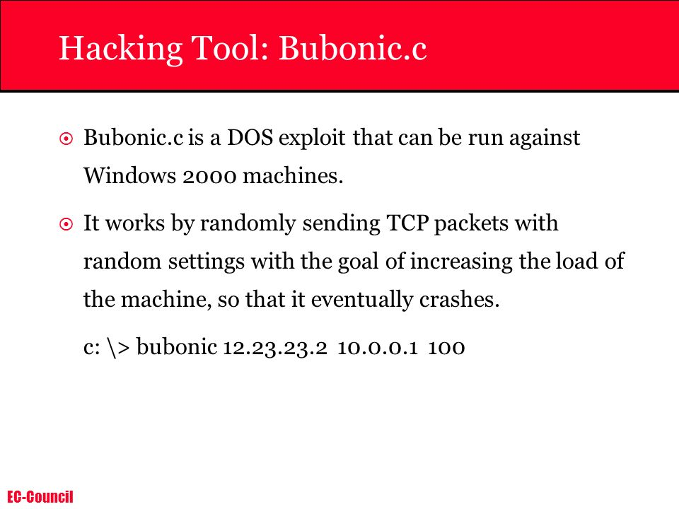Hacking Tool: Bubonic.c
