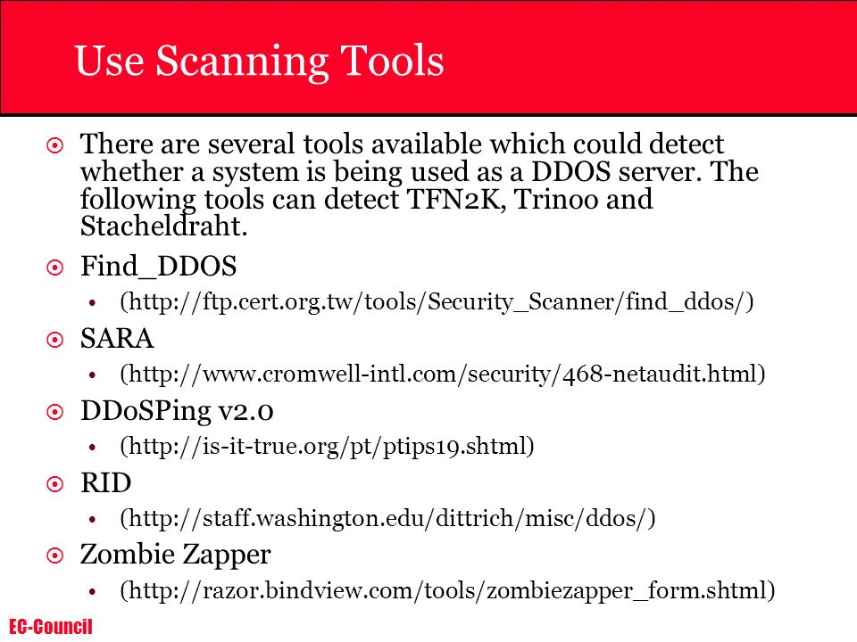 Use Scanning Tools