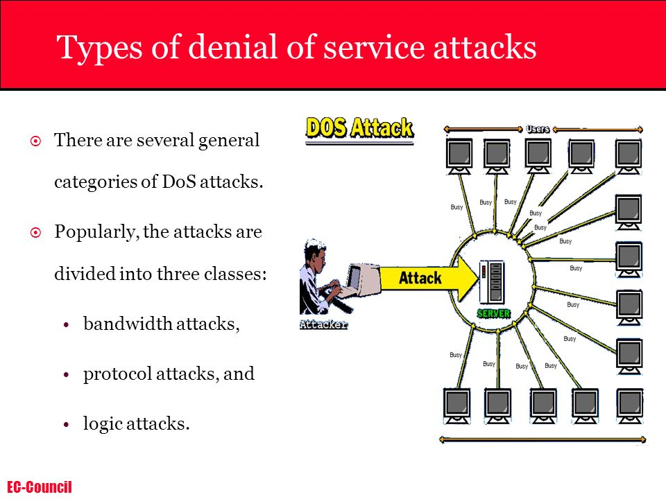 Types of denial of service attacks