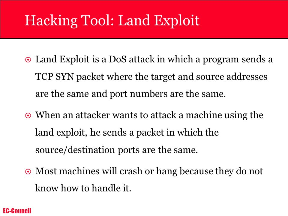 Hacking Tool: Land Exploit
