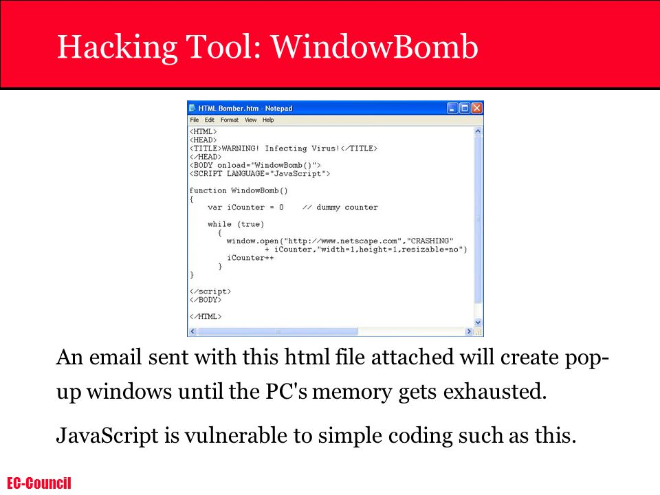 Hacking Tool: WindowBomb