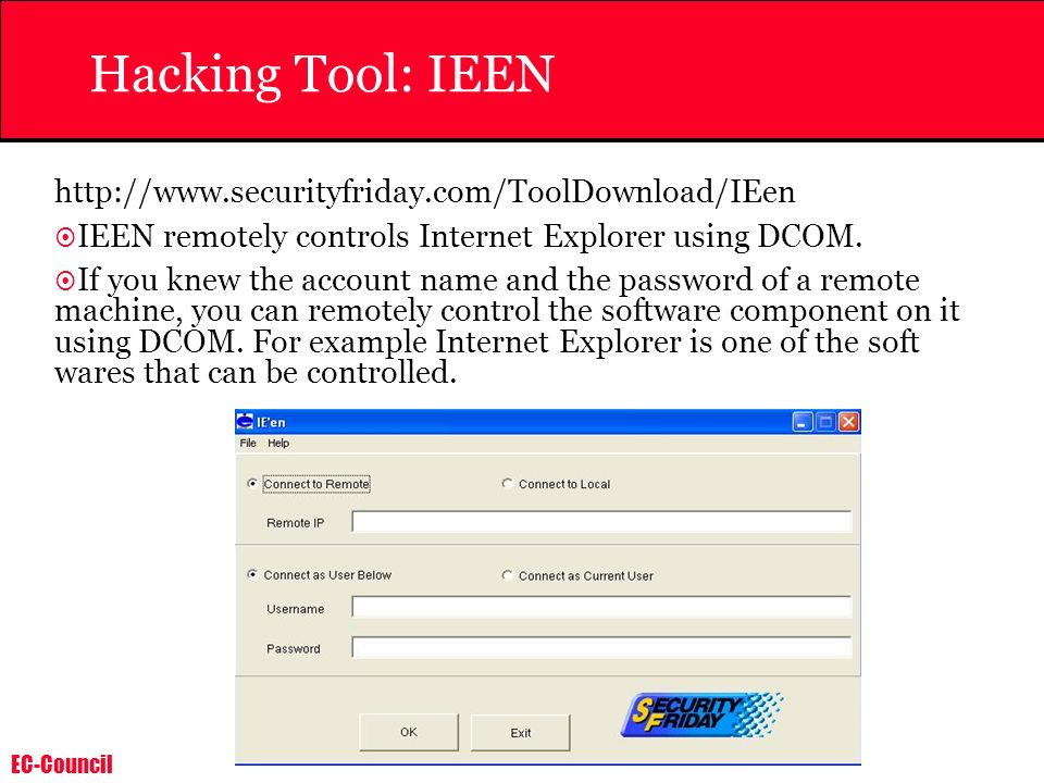 Hacking Tool: IEEN http://www.securityfriday.com/ToolDownload/IEen