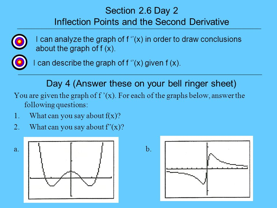 Inflection Points and the Second Derivative