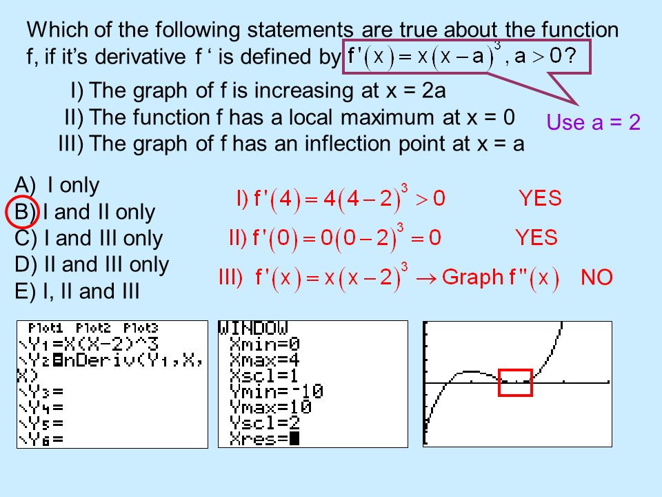 Which of the following statements are true about the function