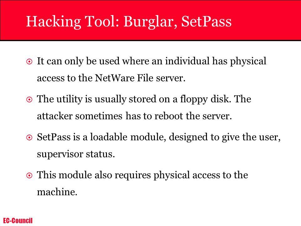 Hacking Tool: Burglar, SetPass