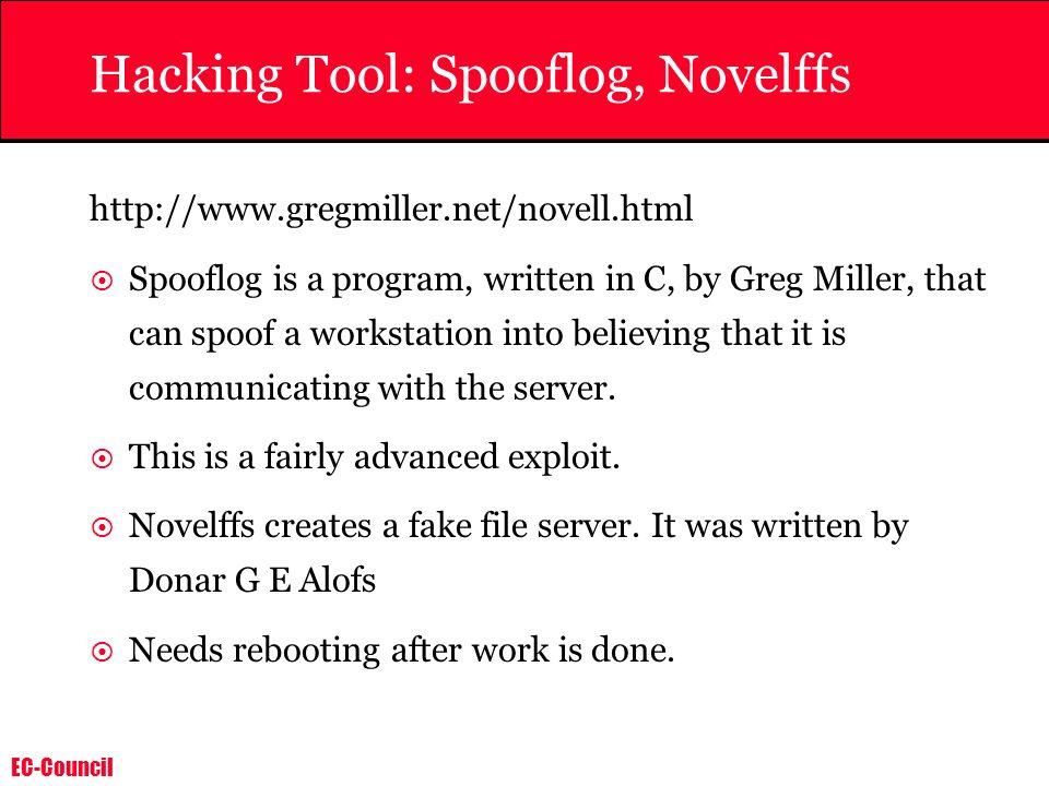 Hacking Tool: Spooflog, Novelffs