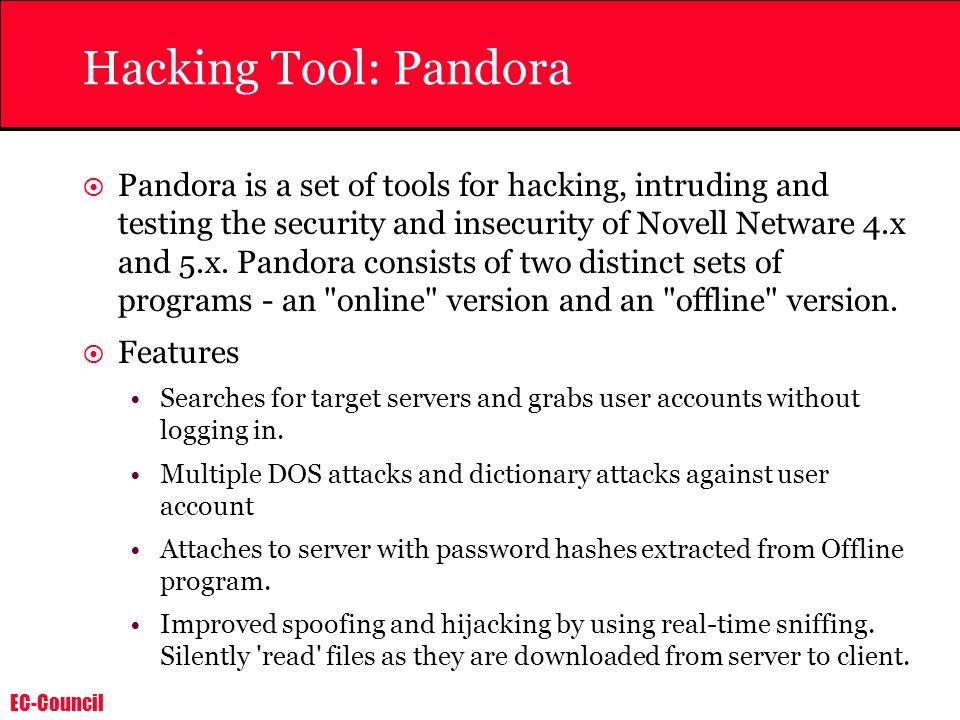 Hacking Tool: Pandora